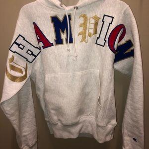 Different letters CHAMPION sweatshirt.